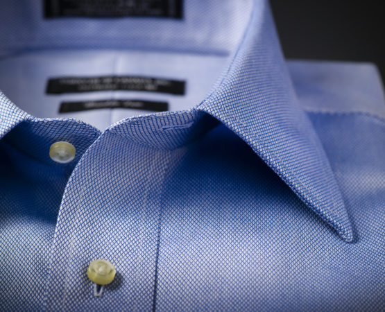 Blue business button down fashion clothing